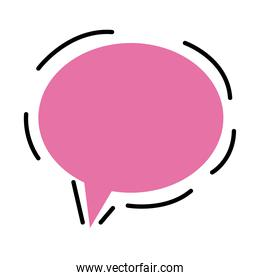 speech bubble pink color isolated icon