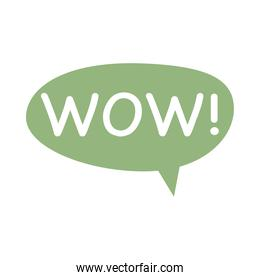 speech bubble with wow word