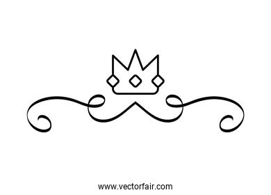 elegant divider with crown icon