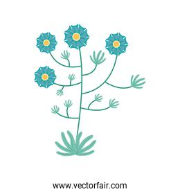 light blue flowers garden flat element