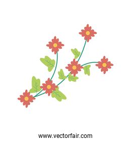 red flowers garden flat element
