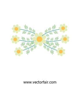 white flowers garden flat element
