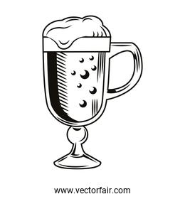 beer jar cup drink drawn isolated icon