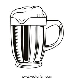 beer jar drink drawn isolated icon