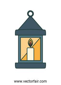 candle icon on white background