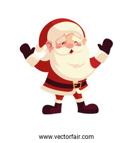 santa claus character cartoon christmas on white background