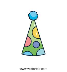 party hats icon, flat style