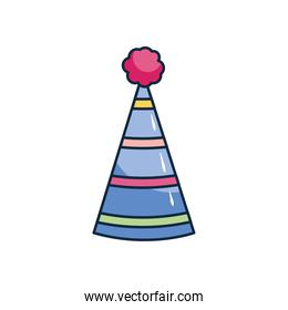 icon of party hat, flat style
