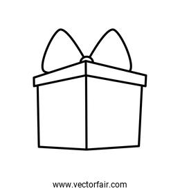 gift box icon, line style