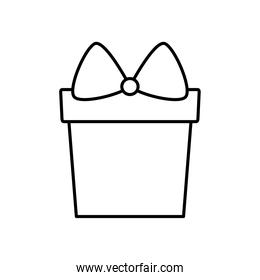 present gift box icon, line style