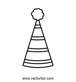 icon of party hat, line style