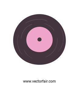 vinyl daily sticker flat style icon vector design