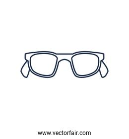 glasses icon, line style on white background