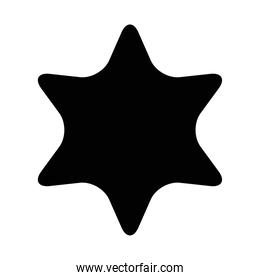 star seal stamp silhouette style icon   design