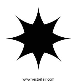 star seal stamp silhouette style icon