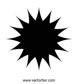 star seal stamp silhouette style icon vector design