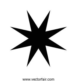 silhouette of star with  8 points