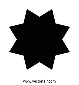 star seal stamp silhouette style icon vector