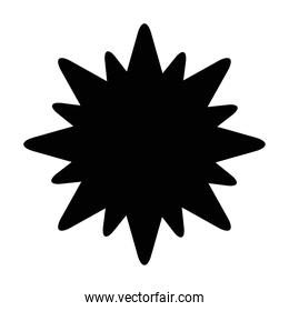 star  stamp silhouette style icon vector design