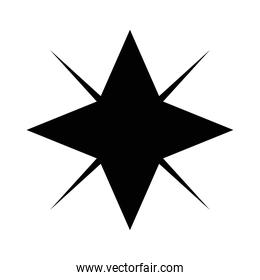 silhouette  of star isolated icon