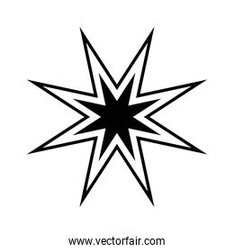 star of 8 points  isolated style icon