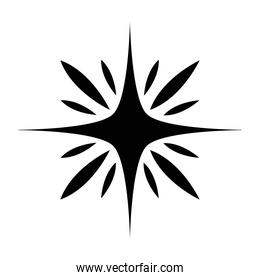 star of 4 points silhouette style icon vector design