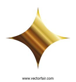 star of 4 points gold style icon vector design