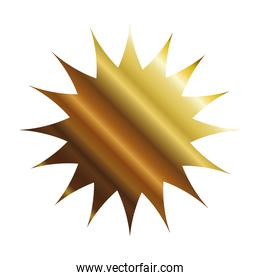 star seal stamp gold style icon vector design