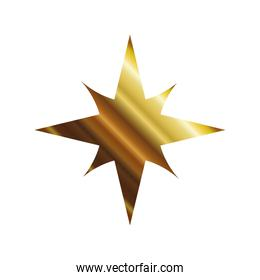 star of 4 points gold style icon