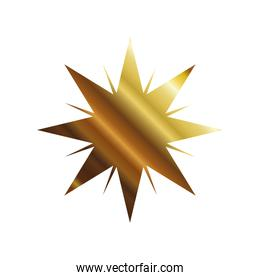 star with lines gold style icon vector design