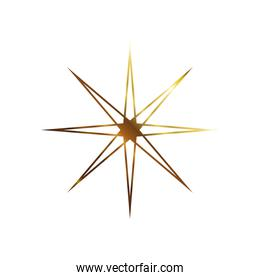 golden star with 8 points icon