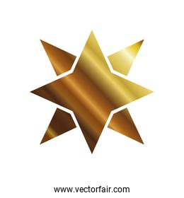 golden color star with eight points