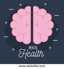 mental health with brain icon