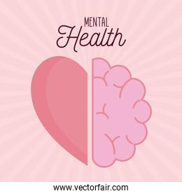 mental health with brain and heart