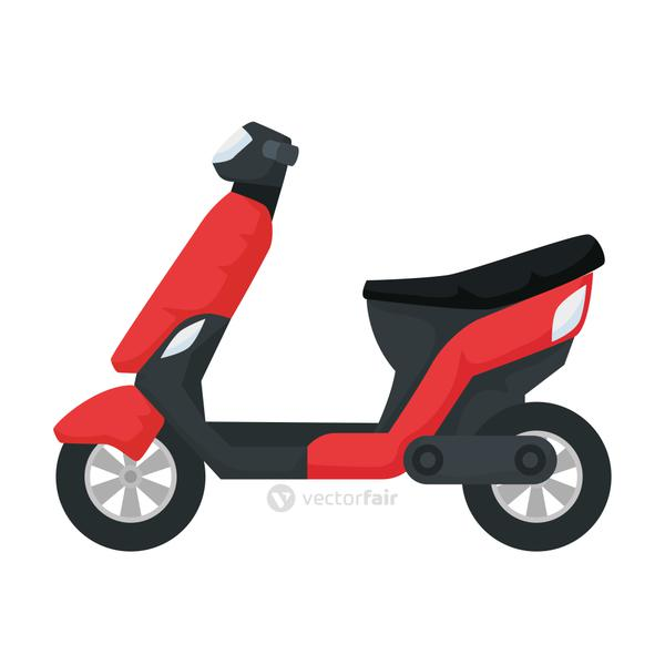 scooter motorcycle vehicle isolated icon