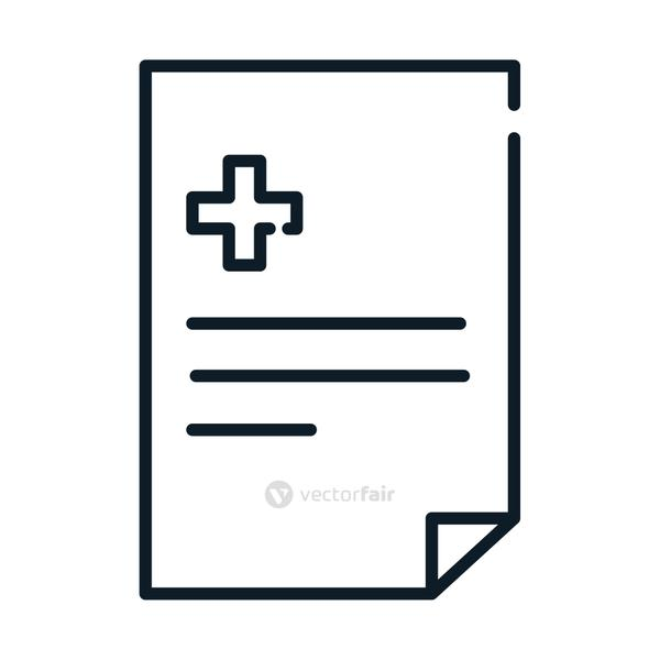 health medical document report line icon