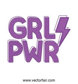 girl power lettering with ray