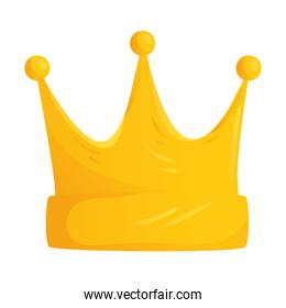 queen golden crown isolated icon