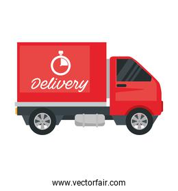 red delivery service truck vehicle icon