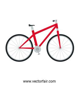 red bicycle vehicle sport isolated icon