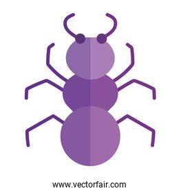 insect ant animal in cartoon flat icon style