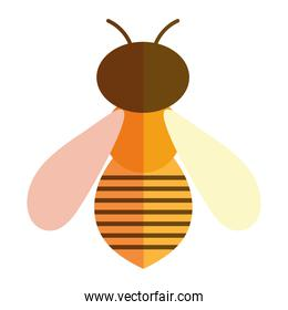 bee insect animal in cartoon flat icon style