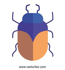 insect animal in cartoon flat icon style white background