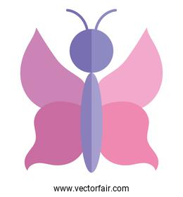 butterfly insect animal fauna cartoon flat icon style