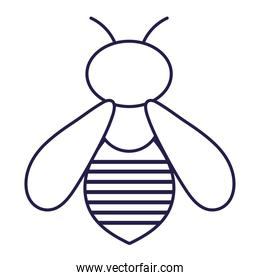 bug nature animal in cartoon thin line icon style