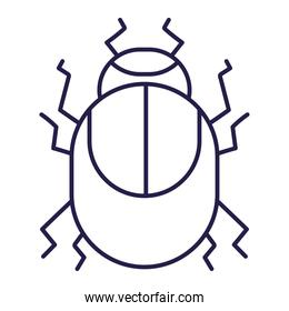 bug nature animal in cartoon line icon style