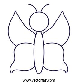 butterfly insect animal fauna cartoon line icon style