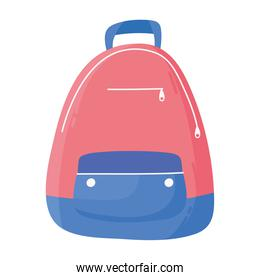 backpack accessory sport icon isolated design