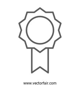 rosette quality award thin line style icon
