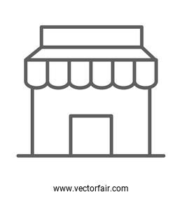 store shopping commerce in thin line style